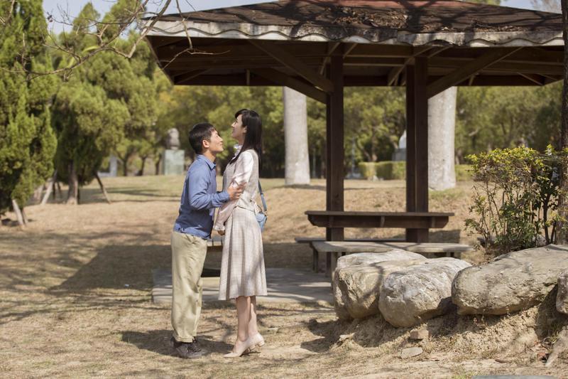 蔡昌憲與田羽安這對「長短腳之戀」,吻戲該如何拍令2人大傷腦筋。