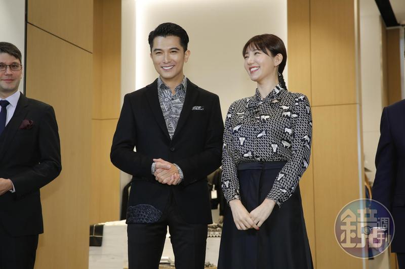 邱澤、郭雪芙受邀出席BOSS微風南山專門店開幕剪綵活動。