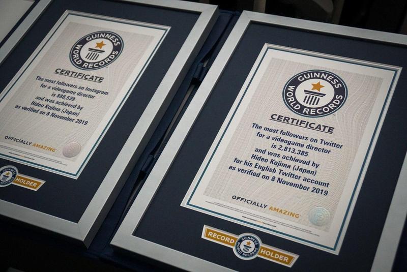 金氏世界紀錄近日認證小島秀夫為Twitter及IG都擁有最多粉絲的遊戲製作人。(翻攝自小島秀夫Twitter)