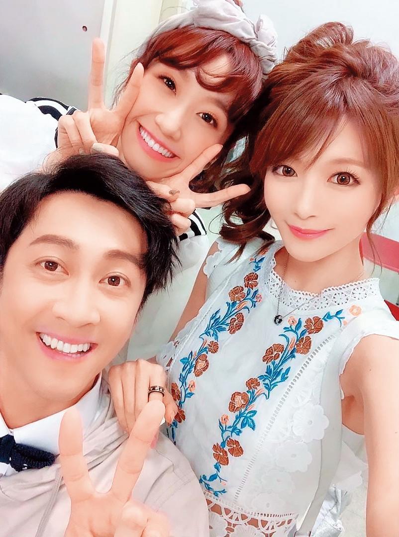 相澤南(右)上《綜藝大熱門》玩得開心,和Lulu(中)、陳漢典(左)一起合照。(翻攝自相澤南IG)