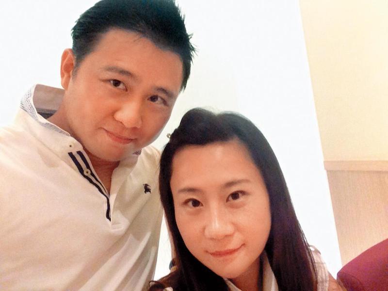張劭緯(左)、安晨妤(右)結婚以來一向給外界甜蜜、幸福形象,沒想到日前驚爆婚姻觸礁。(翻攝自張劭緯臉書)