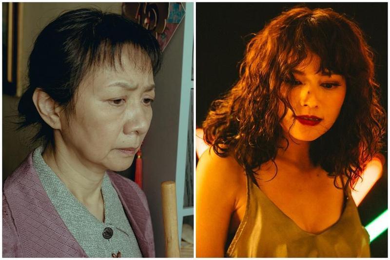 區嘉雯(左圖)在《叔.叔》裡的戲分不算多,能入圍憑的是內斂的演技;姚以緹(右圖)在《江湖無難事》扮演了好幾個角色,從屍體演到變性人。(金馬獎執委會提供)