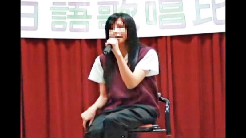 陳女多才多藝,還曾參加日語歌唱比賽。(翻攝畫面)