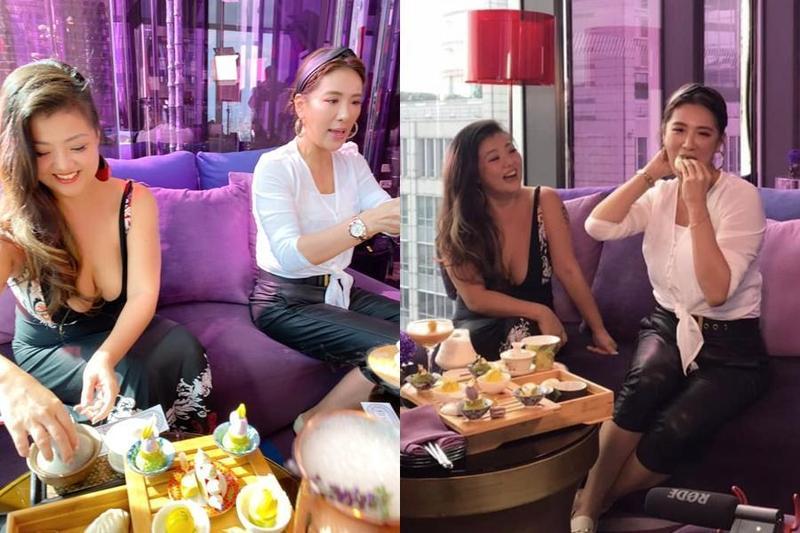 小禎和姐妹們即將籌辦演唱會,花絮照片中意外發現Ruby身材傲人。(翻攝小禎臉書)