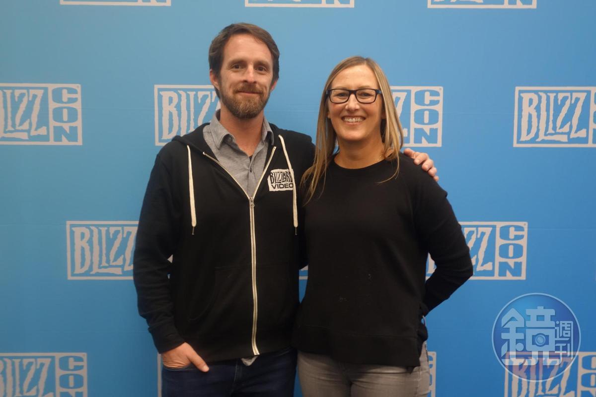 暴雪故事暨品牌研發部門執行副總裁 Lydia Bottegoni(右)及副總裁Jeff Chamberlain。
