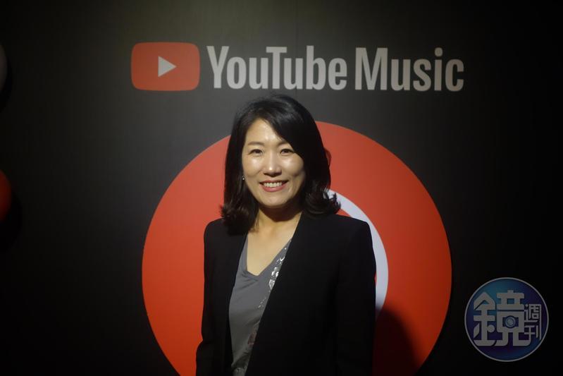 「YouTube Music」正式在台灣上線,YouTube大中華與韓國音樂內容合作夥伴副總經理李善貞接受台灣媒體聯訪。