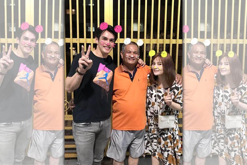 陽岱鋼日前才帶著老婆回台北探望陽父(中)。(翻攝陽岱鋼臉書)