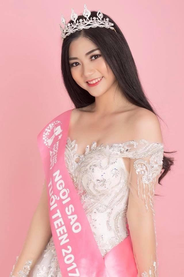 Nguyễn Bùi Nam Phương曾在2017年參加越南當地舉行的青少年小姐選美,獲得「最佳青少年小姐」殊榮。(圖/翻攝自Nguyễn Bùi Nam Phương IG)
