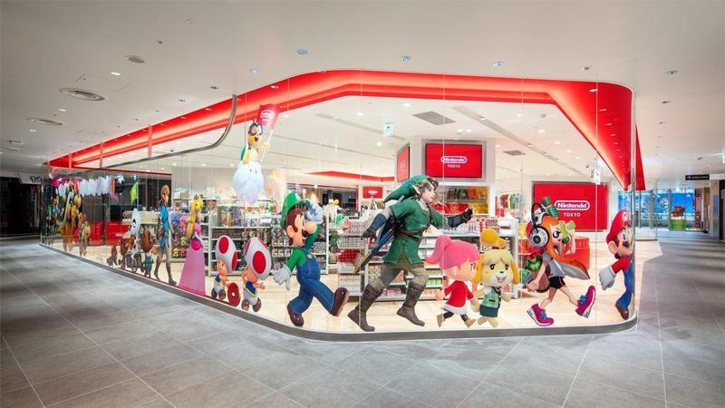 日本第一家的任天堂實體直營旗艦店「Nintendo TOKYO」22日於東京澀谷開幕。(翻攝twitter:Nintendo TOKYO)