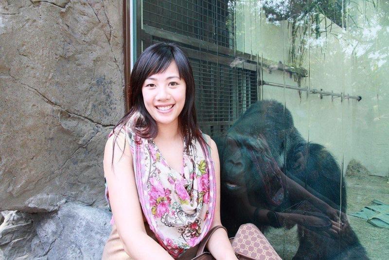 吳欣盈和柯文哲結識,原來是動物園金剛寶寶當媒人。(新光人壽慈善基金會提供)