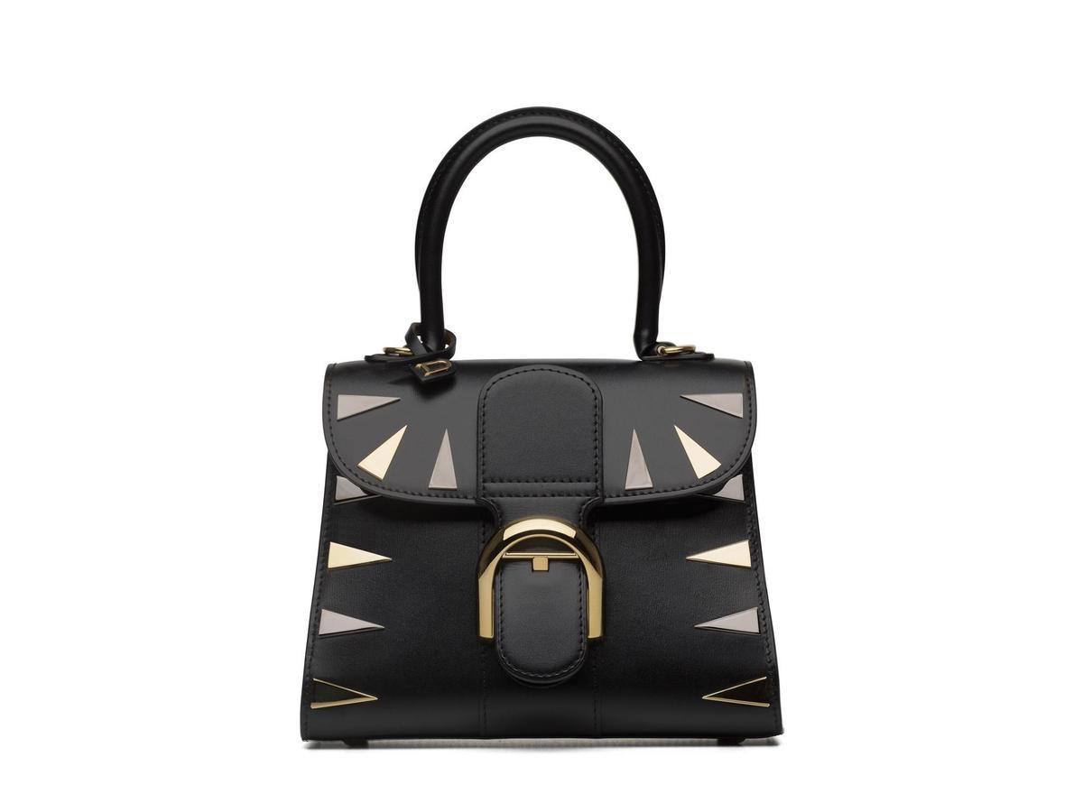 DELVAUX 190週年紀念款Brillant系列黑色牛皮小型肩揹手提包。NT$197,600(美之心提供)