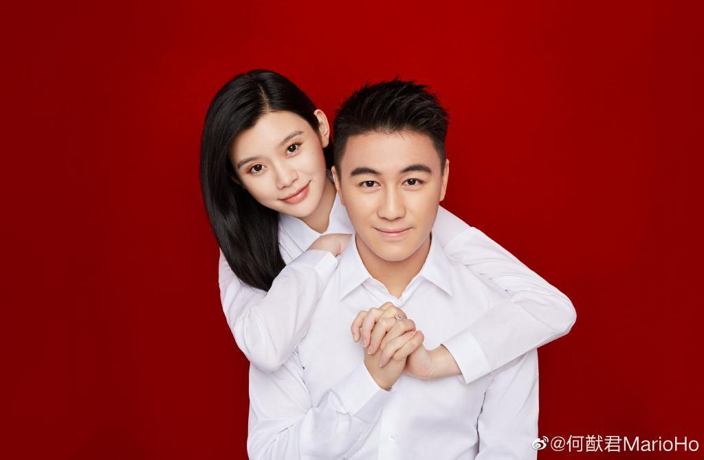 何猷君與奚夢瑤今年7月領證結婚。(翻攝自何猷君微博)