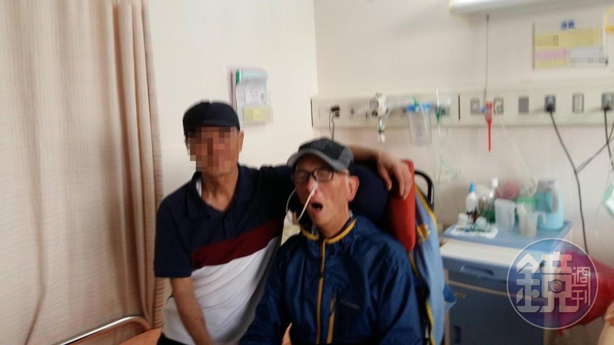 王羽(右)獲得第56屆金馬獎終身成就獎,但因為抱病無法出席領獎。(讀者提供)