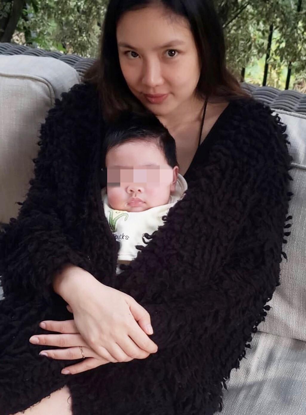 樂基兒自今年四月產下愛子Hunter後就專心在家相夫教子。(翻攝自樂基兒IG)