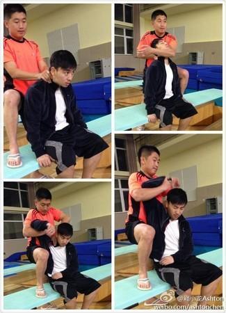 2013年釋小龍參加跳水節目,他的助理在沒人注意時從3米台跳下,不幸溺水身亡。(網路圖片)