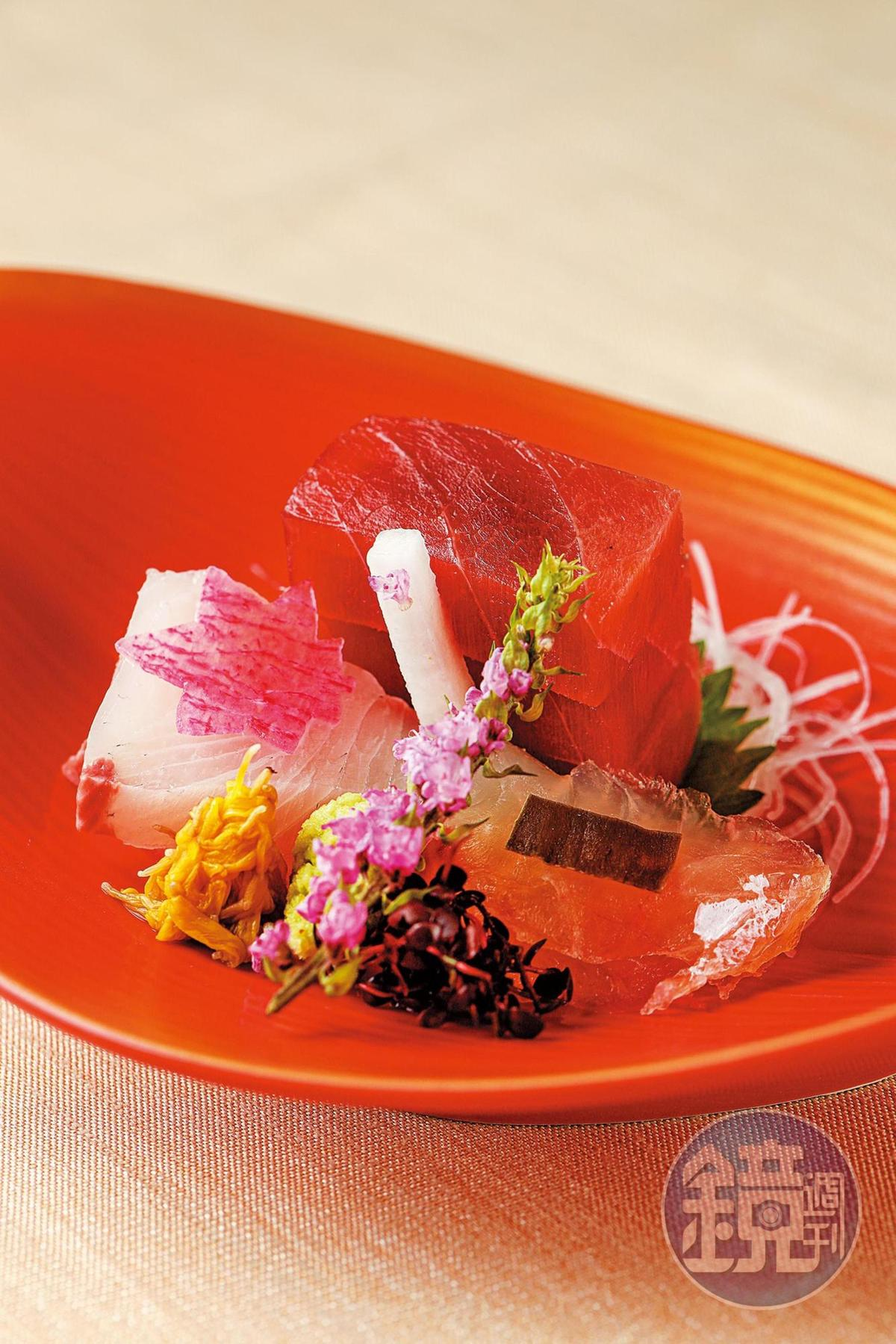 3種生魚片的鮮度都不錯,入口甘美。