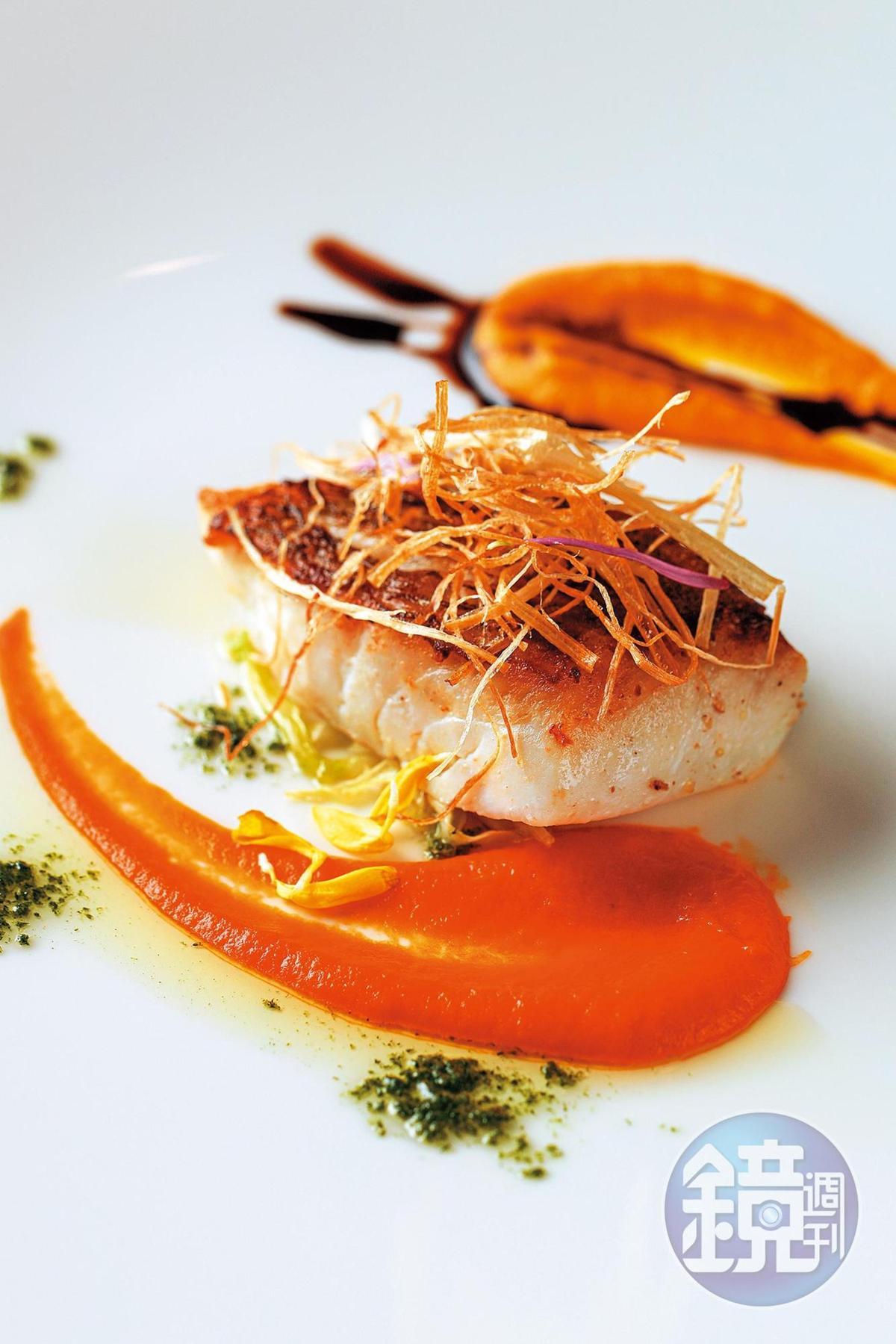 一泊二食可選擇洋食,主菜是煎魚,肉質細嫩可口。
