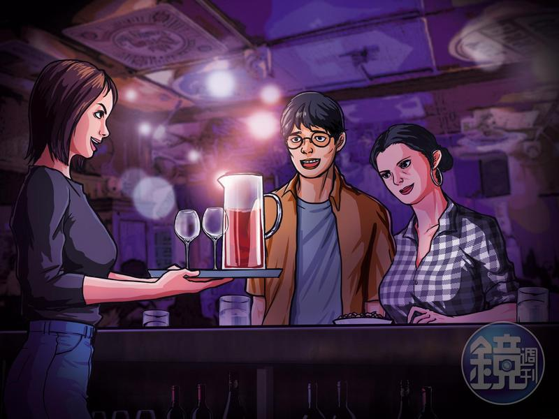 酒托女與酒吧老闆娘聯手詐騙男網友,幾壺紅酒竟要價數萬元。