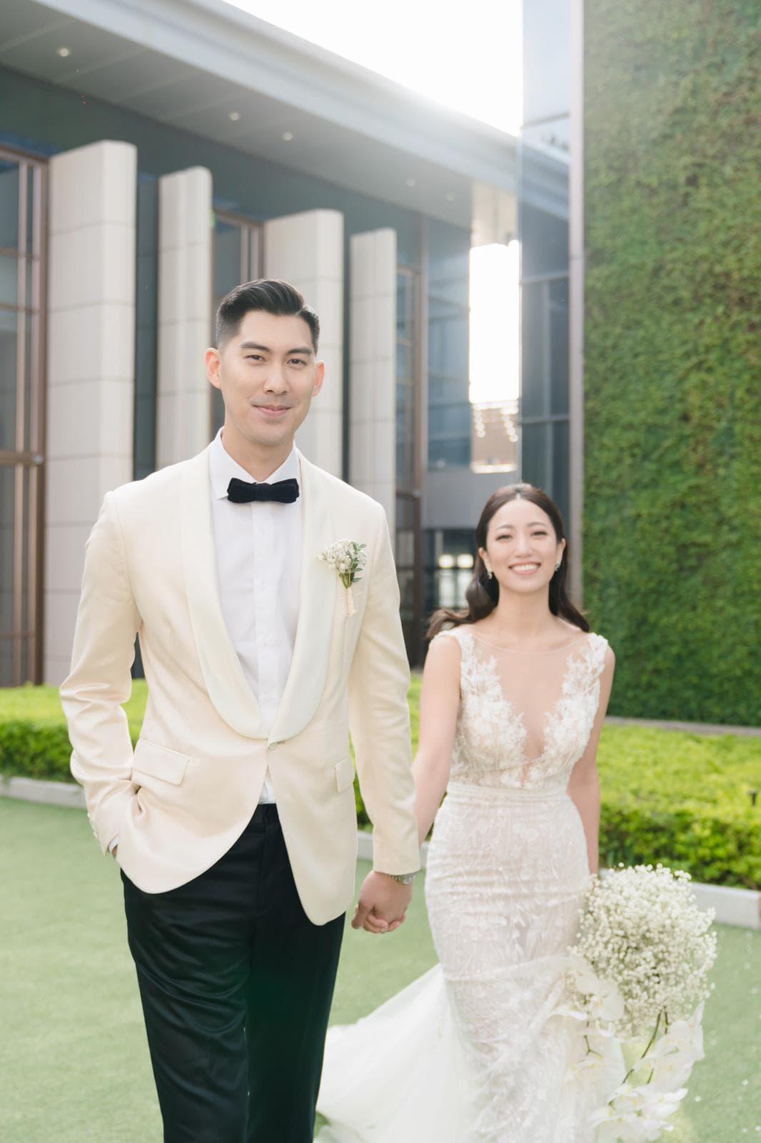 毛加恩今晚如期和未婚妻羅雯在萬豪酒店舉辦婚宴,下午在戶外舉行婚禮儀式。(傑星傳播提供)