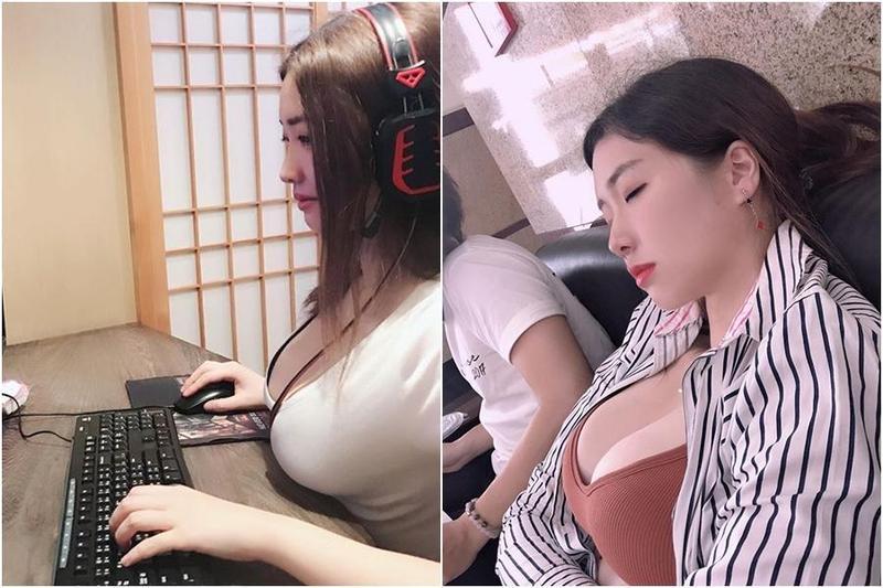 美女工程師「小嗨」在參加活動時不小心睡著,被拍下來放上網路。(翻攝IG)