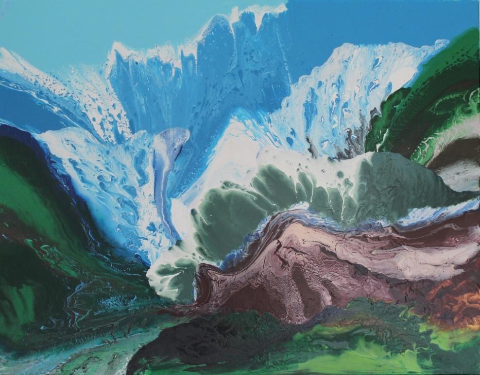 印象山水II 91cm  x 116.5cm , 2013 │布面油畫