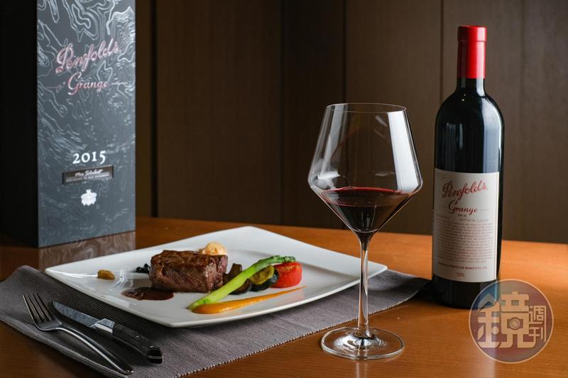 奔富(Penfolds)慶祝175歲生日,在台中「The Prime極炙牛排館」推出限定饗宴,有「澳洲酒王」美譽的「Grange」也能單杯供應。(限定酒單供應2014年份,6,500元/杯、34,000元/瓶)