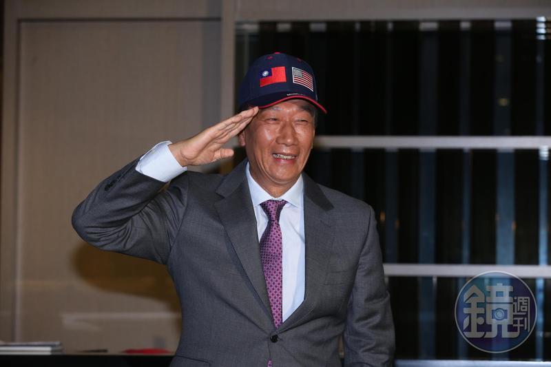 郭台銘今日召開記者會表示,將搭機前往美國參加白宮的耶誕派對,他也強調一定會見到美國總統川普。