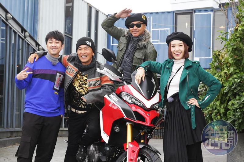 《綜藝大熱門》錄製農曆特別節目歐弟回歸,吳宗憲、Lulu黃路梓茵、陳漢典熱情迎接。