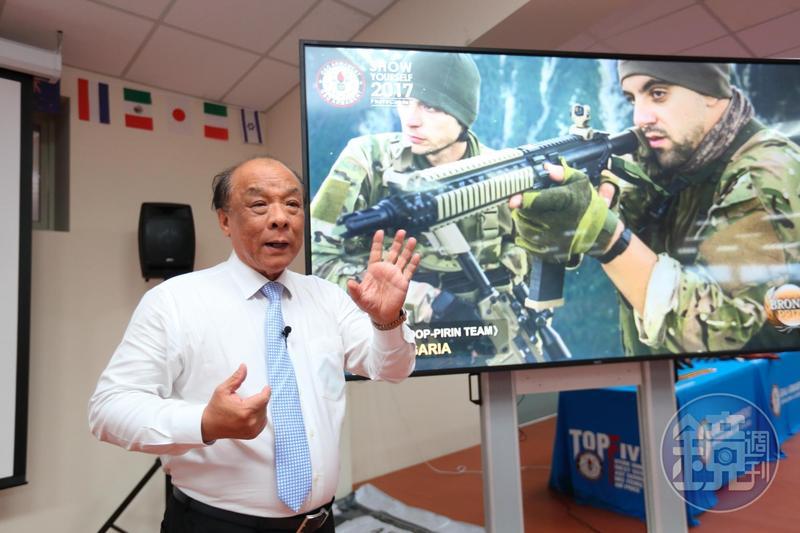 65歲的廖英熙是公司的點子王,為了宣傳自家公司,舉辦攝影比賽。