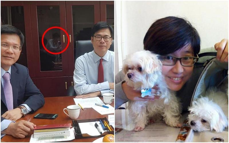 潘恒旭昨日po文再爆,暗指楊蕙如是陳其邁所養網軍,更以疑似楊幫忙拍照的畫面作為「證據」。(翻攝自潘恒旭臉書)