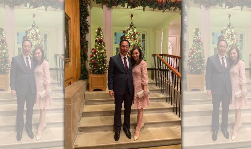 鴻海創辦人郭台銘偕愛妻曾馨瑩再入白宮。(翻攝自郭台銘臉書)