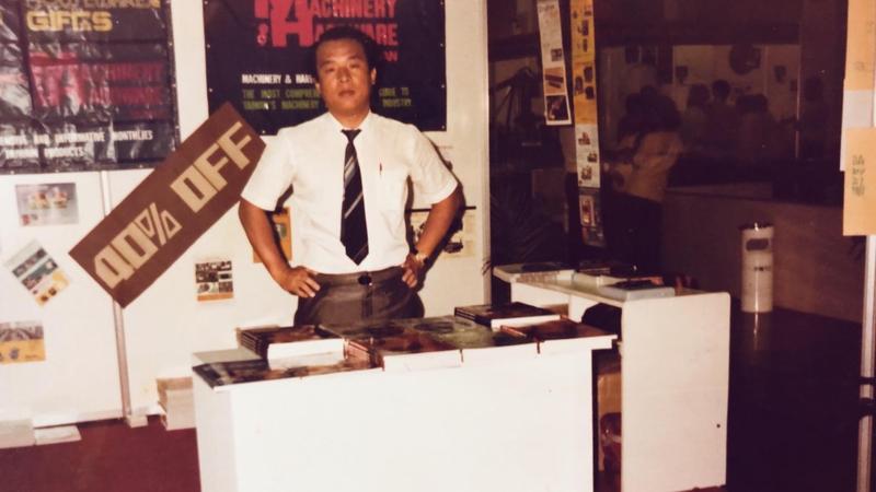廖英熙第一份工作是在聯太廣告禮品部,他工作11個月就升上副理。(廖英熙提供)