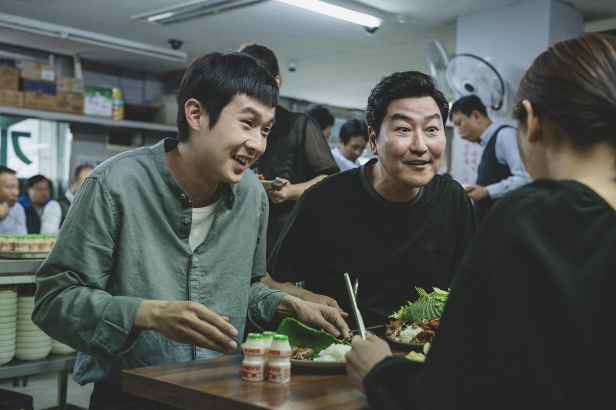 韓片《寄生上流》聲勢愈發高漲,金球外語片獎已在望。(CatchPlay)