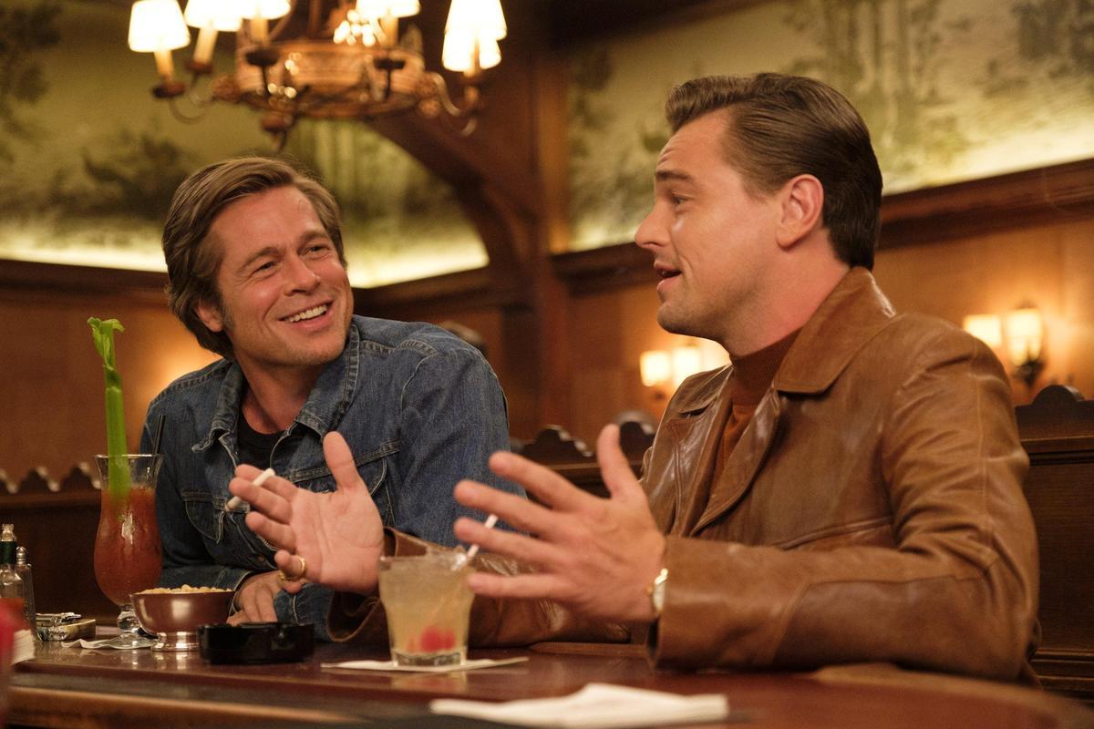 《從前,有個好萊塢》的兩大男神李奧納多狄卡皮歐與布萊德彼特雙雙入圍音樂喜劇類男主角與男配角獎。(双喜)