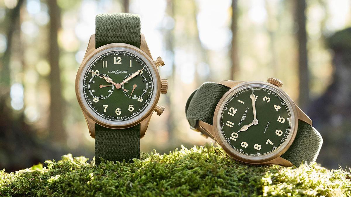 計時碼錶-錶徑42mm、時間指示、計時碼錶功能、自動上鏈機芯、建議售價NT$ 163,800(左)| 兩針款-錶徑40mm、時間指示、自動上鏈機芯、建議售價NT$ 101,000(右)
