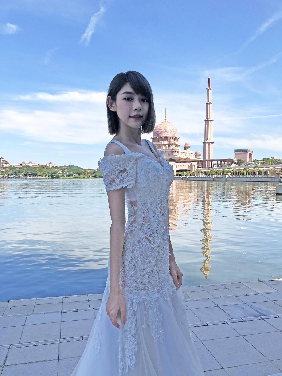 林明禎第一次到清真寺廣場拍攝,讓她非常雀躍。(種子音樂提供)