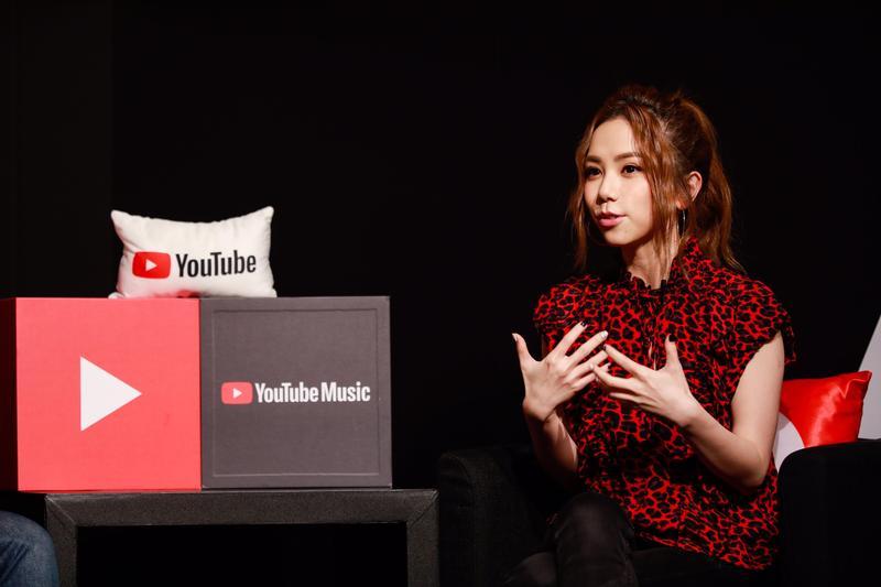 G.E.M.鄧紫棋出席YouTube Music Night直播活動。(索尼音樂提供)