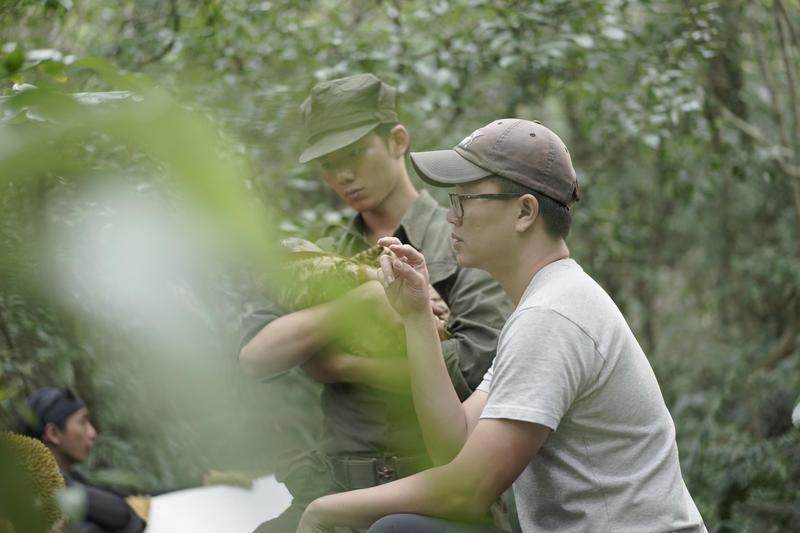 吳念軒在馬來西亞叢林拍攝時遇蚊蟲侵擾,吃了不少苦頭。