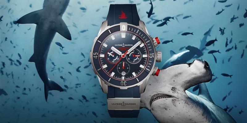 繼去年推出數款以鯊魚為主題的作品後,這次雅典錶再推出全新鎚頭鯊潛水計時腕錶限量版。