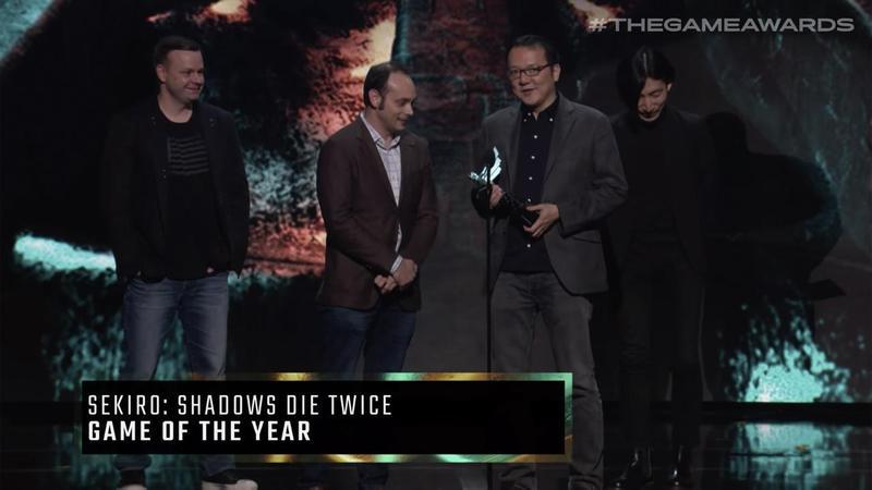 年度最佳遊戲頒給了《隻狼:暗影雙死》。(翻攝自thegameawards YouTube頻道)