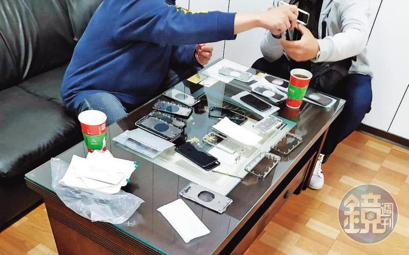 利用蘋果原廠維修價格較貴的機會,X先生等人將原廠零組件不良品整理後販售。