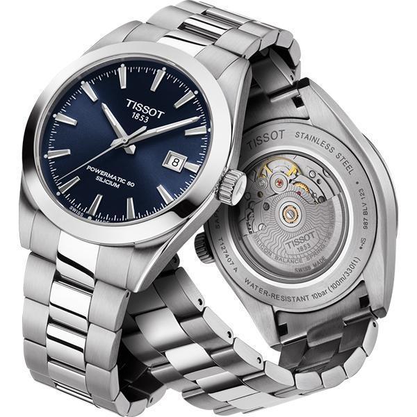 入門錶的規格不斷在提升,例如矽游絲這類以往指出現在中高價錶款中的規格,如今入門級品牌天梭的產品也已具備。80小時動能加上防磁矽游絲,是天梭這次新系列Gentleman的最大亮點。