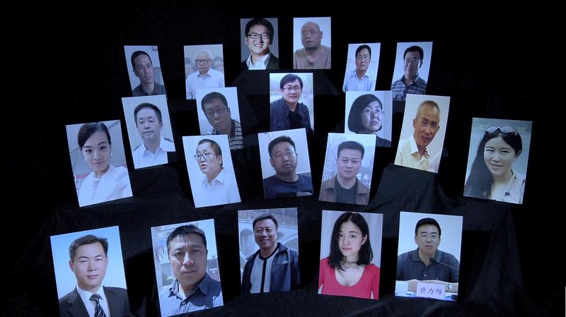 「709大抓捕」約300名維權律師突遭逮捕、審問,其中王全璋(上起第2排左4)至今仍未獲釋。(公視大展提供)