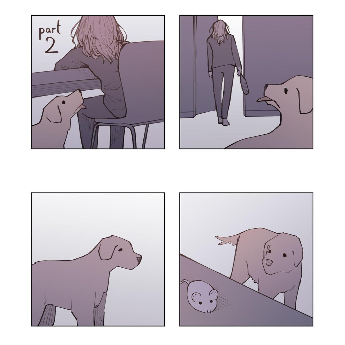 狗狗不忍,替主人出外找貓。(翻攝 Unfins Twitter)