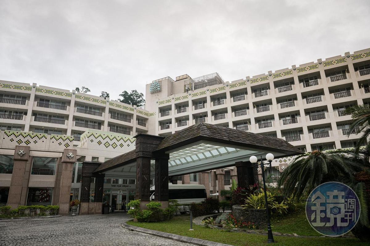 飯店外觀也看得到原住民的圖騰。