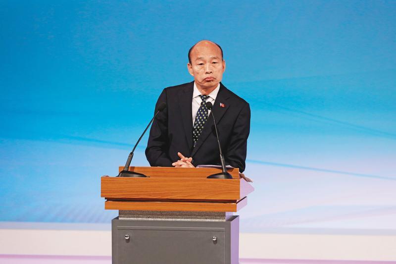 高雄市長韓國瑜上任未及半年又宣布角逐總統大位,渾然忘卻曾對市民做過的承諾。(台北市攝影記者聯誼會提供)