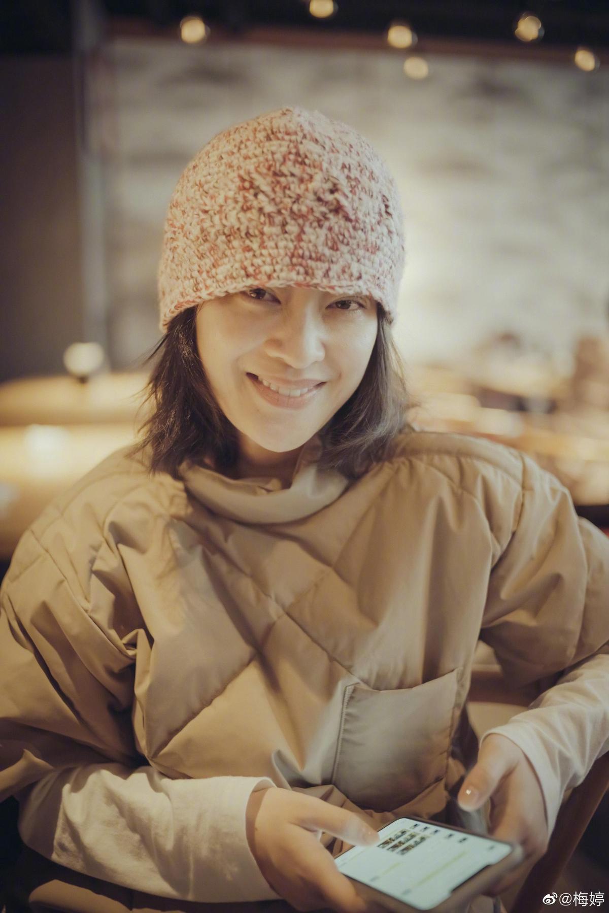 現年44歲的梅婷因主演《不要和陌生人說話》中女主角梅湘南而被觀眾熟知。(翻攝自梅婷微博)