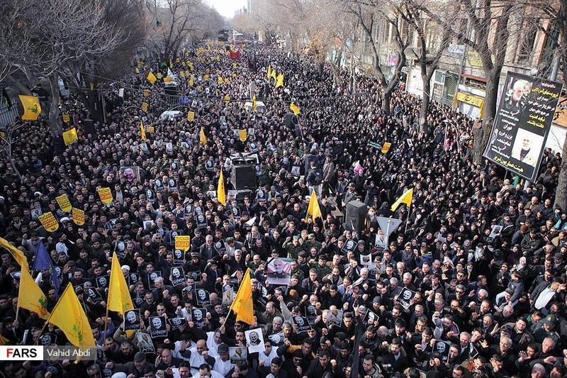 蘇萊曼尼遭美軍刺殺,伊朗德黑蘭街頭民眾發起示威。(網路截圖:wikiwand)