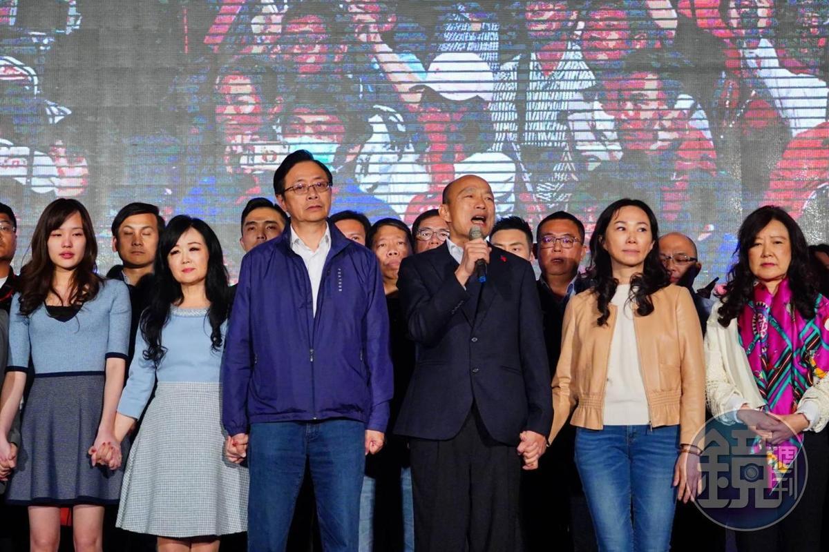 韓國瑜發表敗選感言後,取消原定的國際記者會,被民眾目擊現身在知名火鍋店。