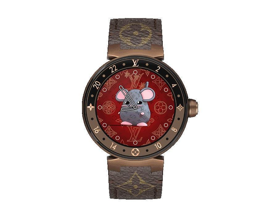 20200112ent022Tambour Horizon Monogram Eclipse 42智能腕錶。NT$76,500 (售價不含錶帶) (LV提供)